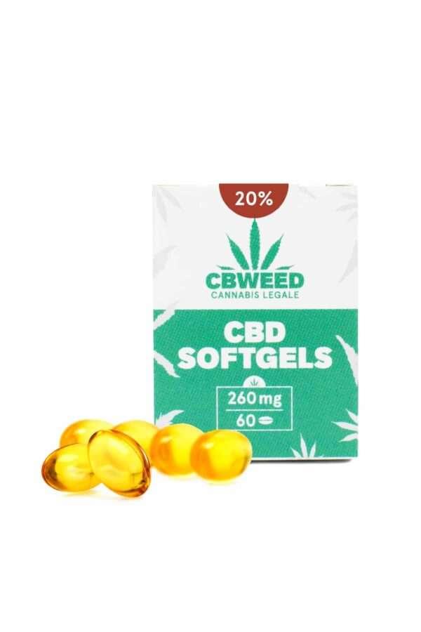 Capsule Softgel con Olio aromatico al CBD 20%