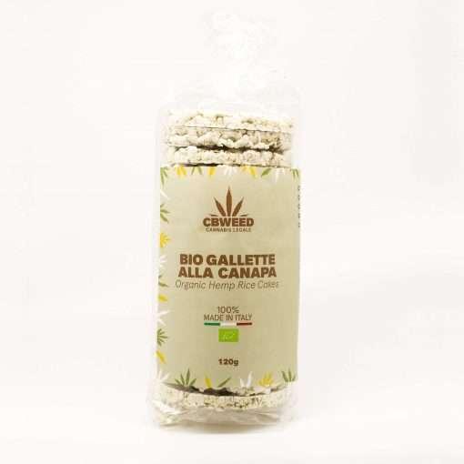 Gallette biologiche di riso e canapa