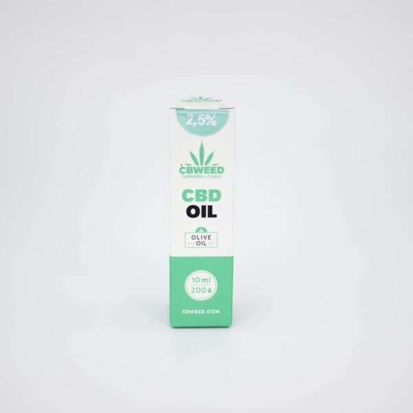 Olio al CBD 2,5% con olio di oliva